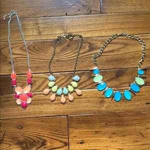 Lot of three necklaces.